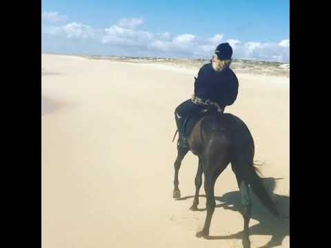 Madonna lovely horse riding on the beachfront resort Mp3