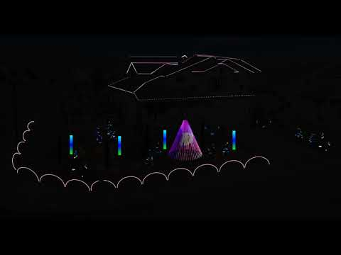 Paul Fletcher - House Rigs Christmas Lights to Perform Baby Shark