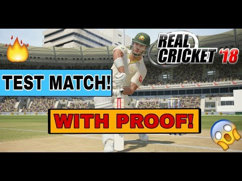 🔥REAL CRICKET 18 TEST MATCH NEWS WITH PROOF!  REAL CRICKET 18 TEST MATCH