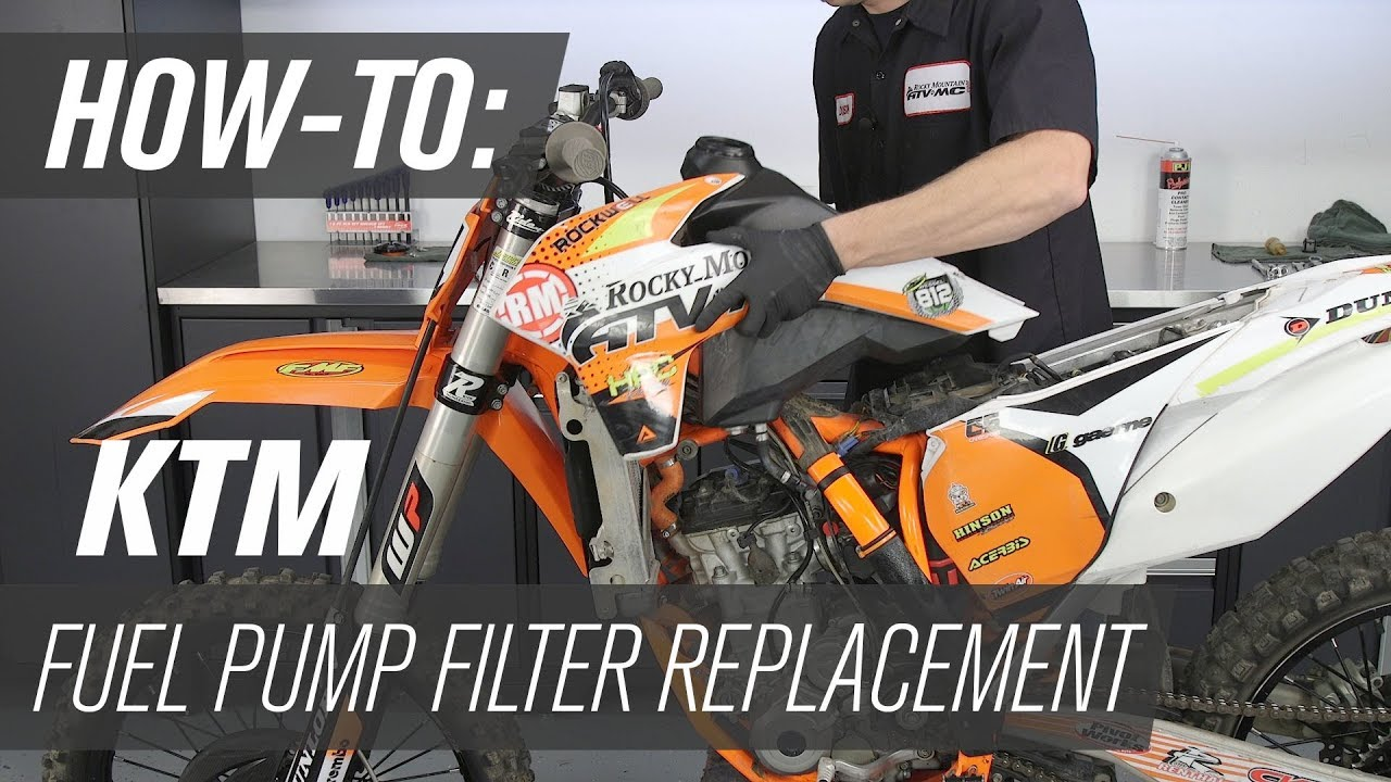 how to replace a ktm fuel pump filter [ 1280 x 720 Pixel ]