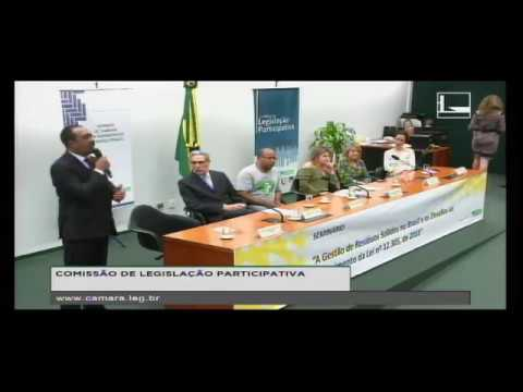 "DR. JOMATELENO NO SEMINÁRIO NA CÂMARA FEDERAL APRESENTANDO O PROGRAMA ""LIXO ZERO, SOCIAL 10"""
