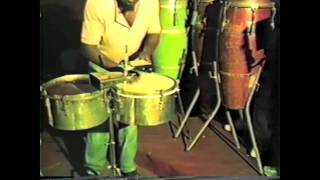 Pello El Afrokan (inventor of the Mozambique rhythm) gives us Mozambique Lesson in Cuba 1985