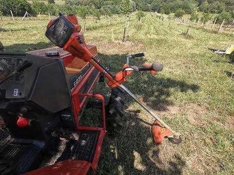 Husqvarna 555RXT & Yanmar F235 Tractor Kaszálás