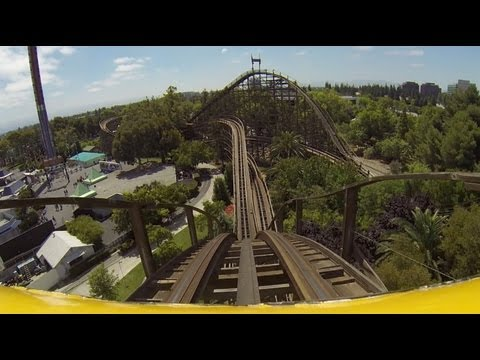 Grizzly Roller Coaster Worst Wooden Coaster in the World? Front Seat POV