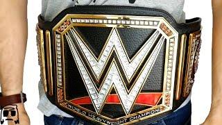 wwe world heavyweight championship jakks title belt replica roleplay unboxing review   2016