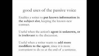 WRITING STYLE 2: Active and Passive Voice