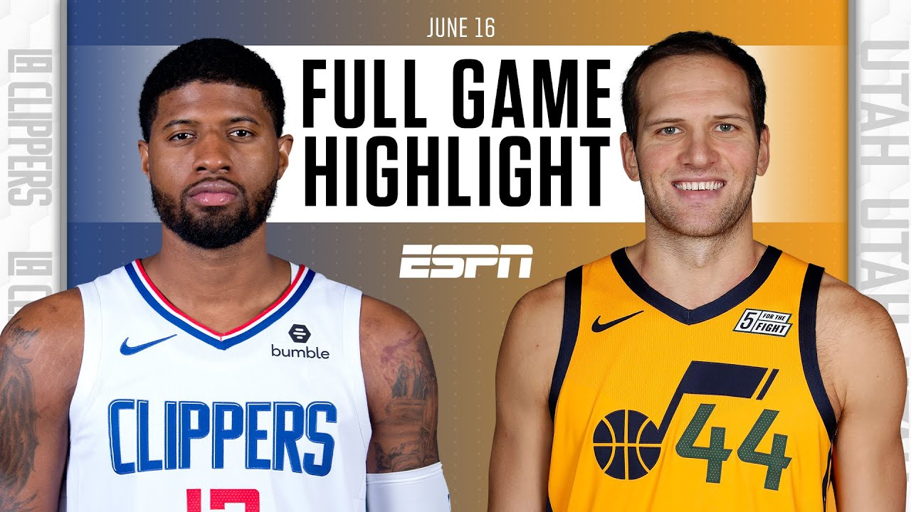 Los Angeles Clippers at Utah Jazz   Full Game Highlights