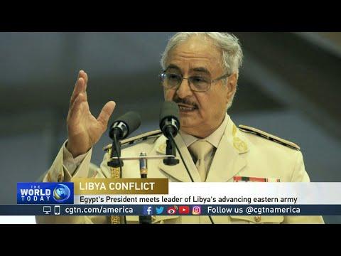 Egypt's President Al-Sisi Meets Leader Of Libya's Advancing Eastern Army