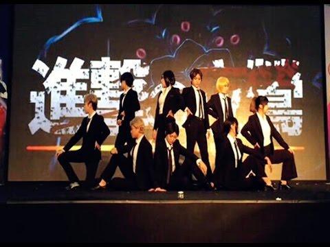 """【夜莺军团9人】Shingeki no kyojin """"No Name"""" 威風堂々【 踊ってみた】"""