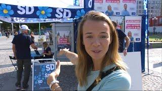 Margaux besöker SD:s valstugor - och tre snabba frågor till Paula Bieler (SD)  - Nyheterna (TV4)