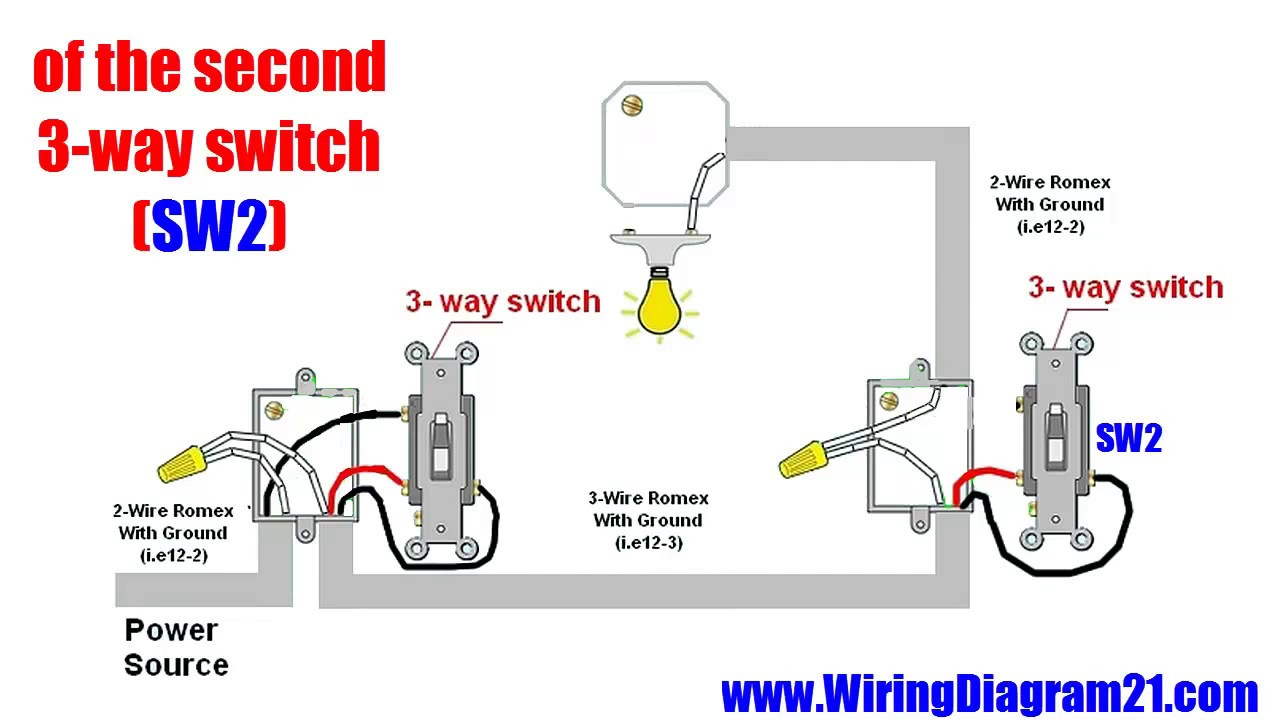 Diagram  Wire A Three Way Switch Wiring Diagram Full