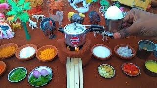 Miniature Egg Biryani   Egg Biryani Recipe   Miniature Cooking   Mini Cooker   Mini Food