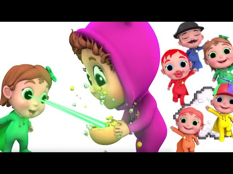 Thumbnail: Super Finger Family | Learn Colors with Super Babies and Baby Joy Joy | Educational
