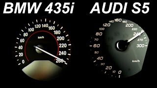 Audi S5 vs BMW 435i Review Acceleration Sound Onboard Autobahn 0-250 Test Drive
