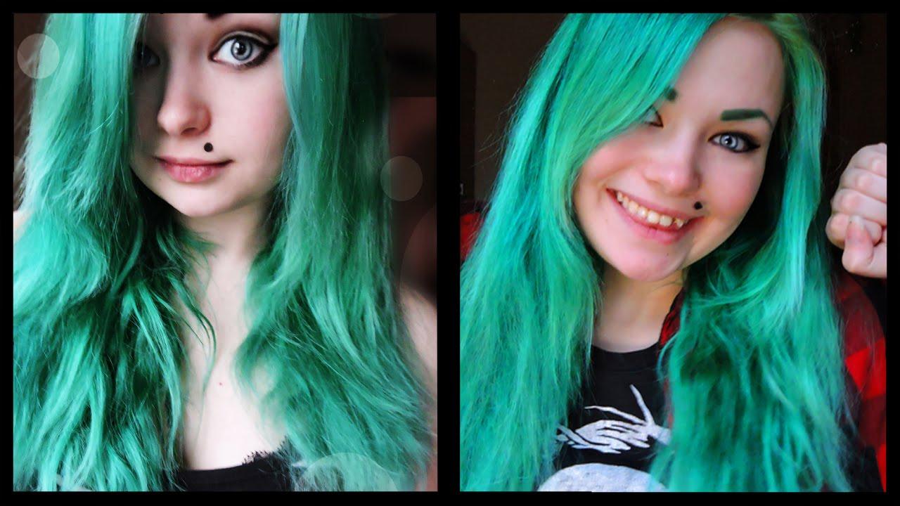 Чем в домашних условиях покрасить волосы в зеленый цвет в домашних условиях