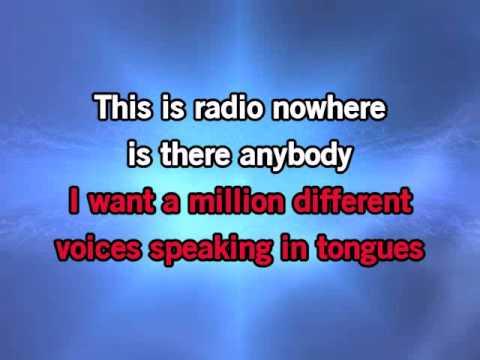 Bruce Springsteen Radio Nowhere Video Karaoke