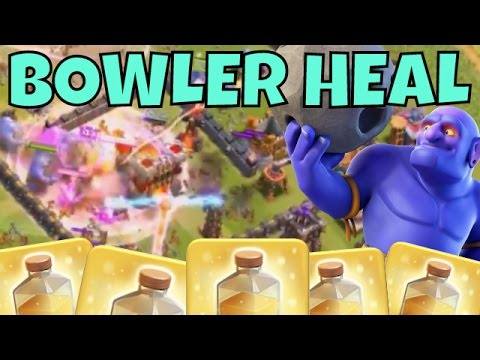 mass-bowlers-heal-spell-=-lethal!-clash-of-clans-bowler-strategy