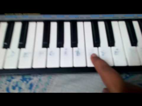 How to play the Clash Of Clans battle theme on keyboard (the first part) very easily