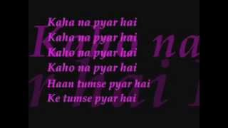 kaho na piyar hai lyrics