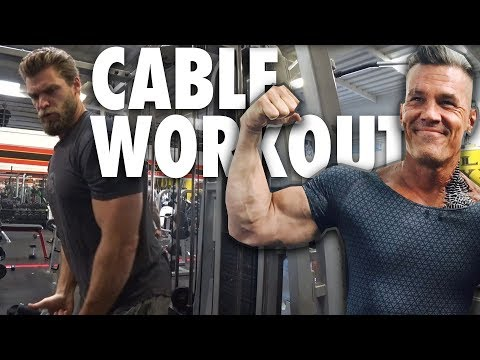 Josh Brolin's CABLE WORKOUT