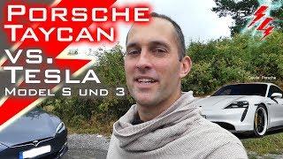 Porsche Taycan Turbo vs. Tesla Model S & 3