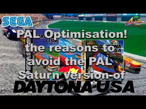 Daytona USA - Sega Saturn - PAL vs NTSC comparison and why you shouldn't buy the PAL version