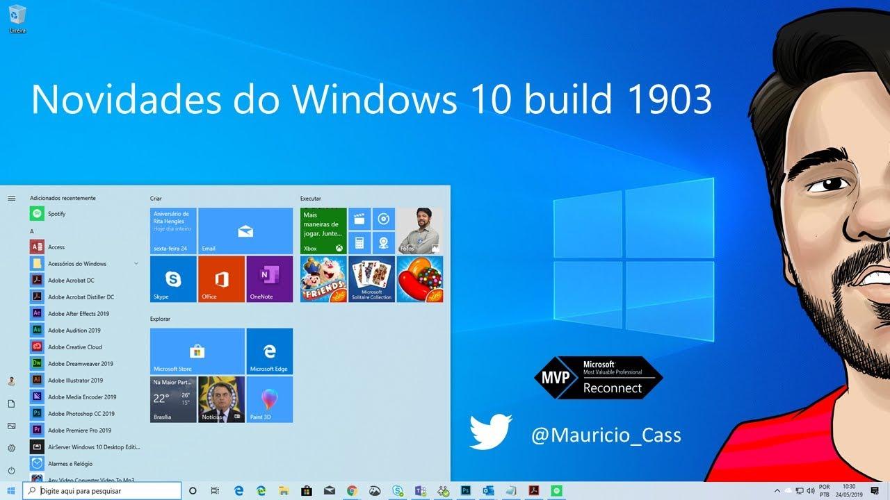 Novidades do Windows 10 build 1903