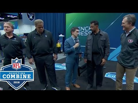Raiders & 49ers Coin Toss to Determine 9th Overall Pick in 2018 Draft | NFL Combine