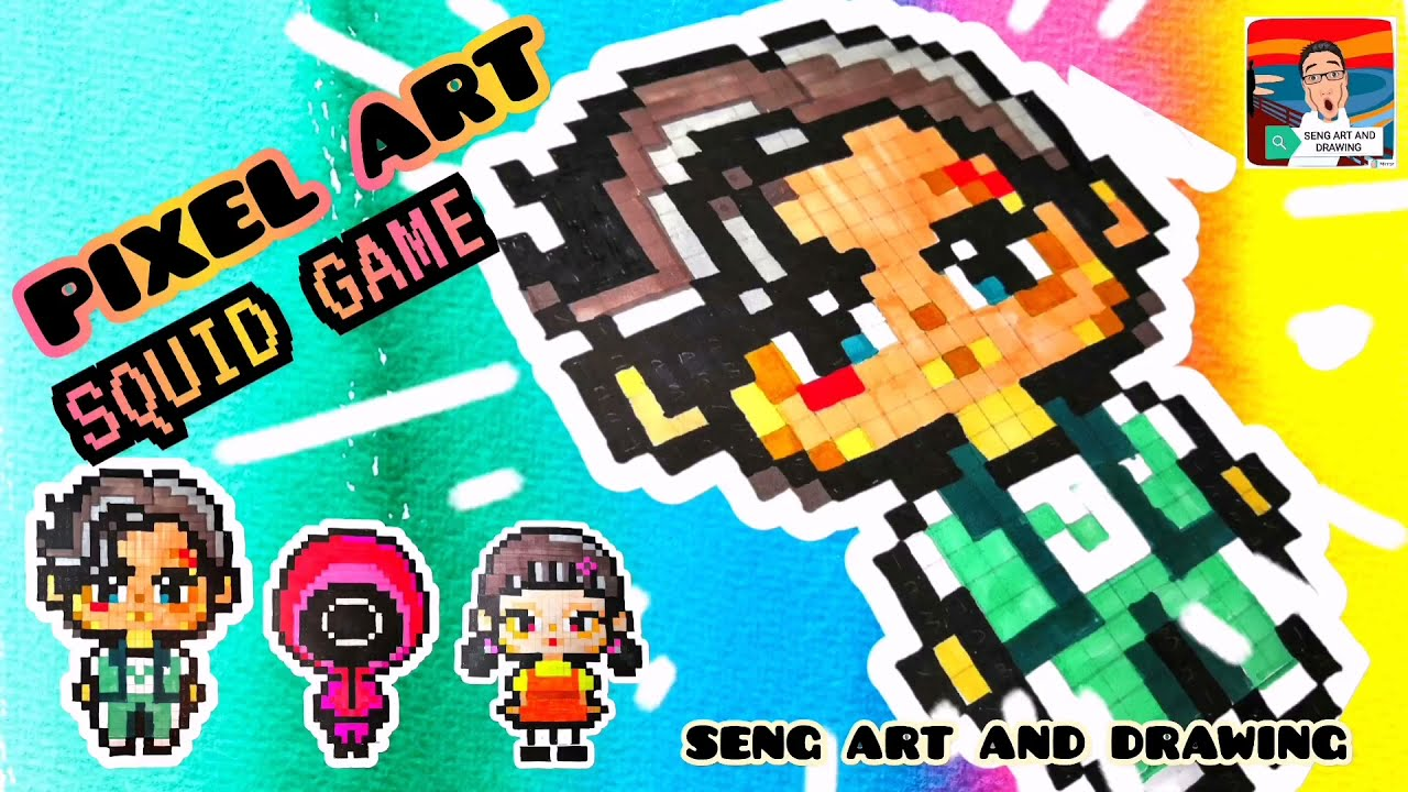 PIXEL ART SQUID GAME GUARD 🌟 鱿鱼游戏像素艺术 (3) 🌟 Seni Piksel Squid Game (3)