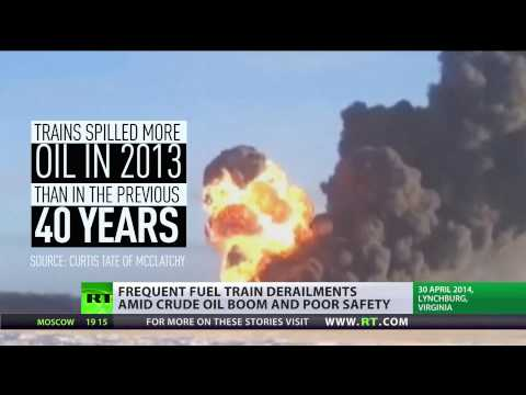 Oil boom backlash: Rise in crude oil shipping by rail triggers spike in US accidents