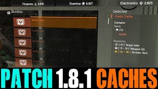 OPENING 40 EXOTIC CACHES AFTER NEW DROP RATE CHANGES... (THE DIVISION 1.8.1)