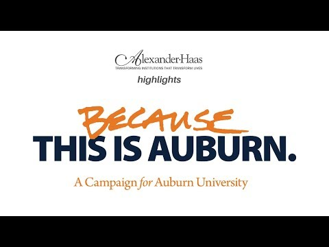 Auburn University Foundation Highlight: Experience of working with Alexander Haas.