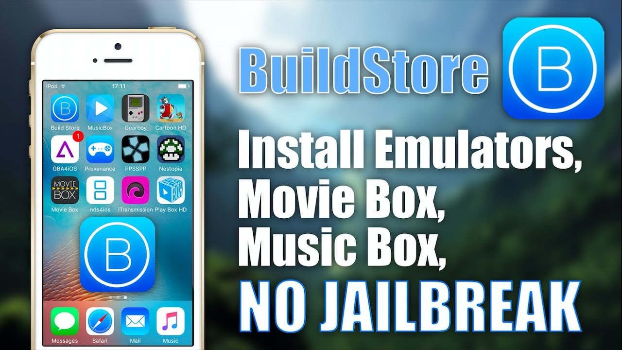 BuildStore: Install Emulators, Movie Box    NO JAILBREAK on iOS 9 3 1