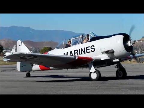 GoPro North American Harvard II (T-6 Texan) N96281 Flight at Riverside Airport 2013