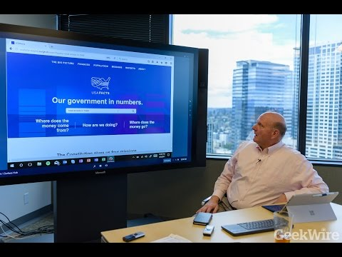 Steve Ballmer introduces USAFacts, a 10-K report for government