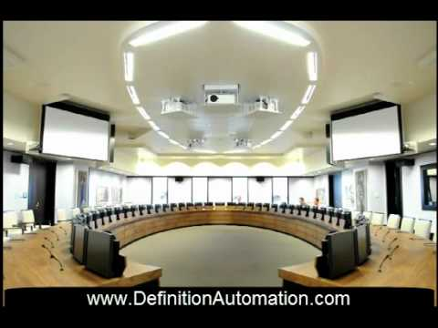 LCD LIFTS, PROJECTOR LIFTS AND PROJECTION SCREENS IN Standard Bank Board Room.mp4