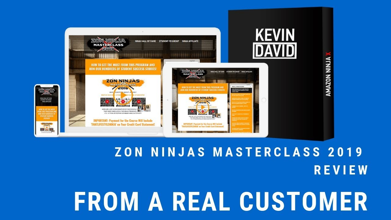 Zon Ninja Masterclass Review From Real User-What's in 2019