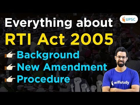 Everything About Right To Information And RTI Act, 2005 By Bhunesh Sir