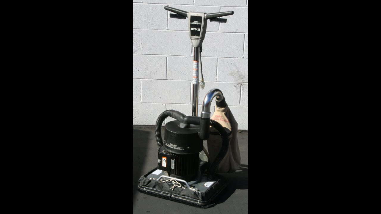 Clarke American Obs 18 Orbital Floor Sander Video Dust