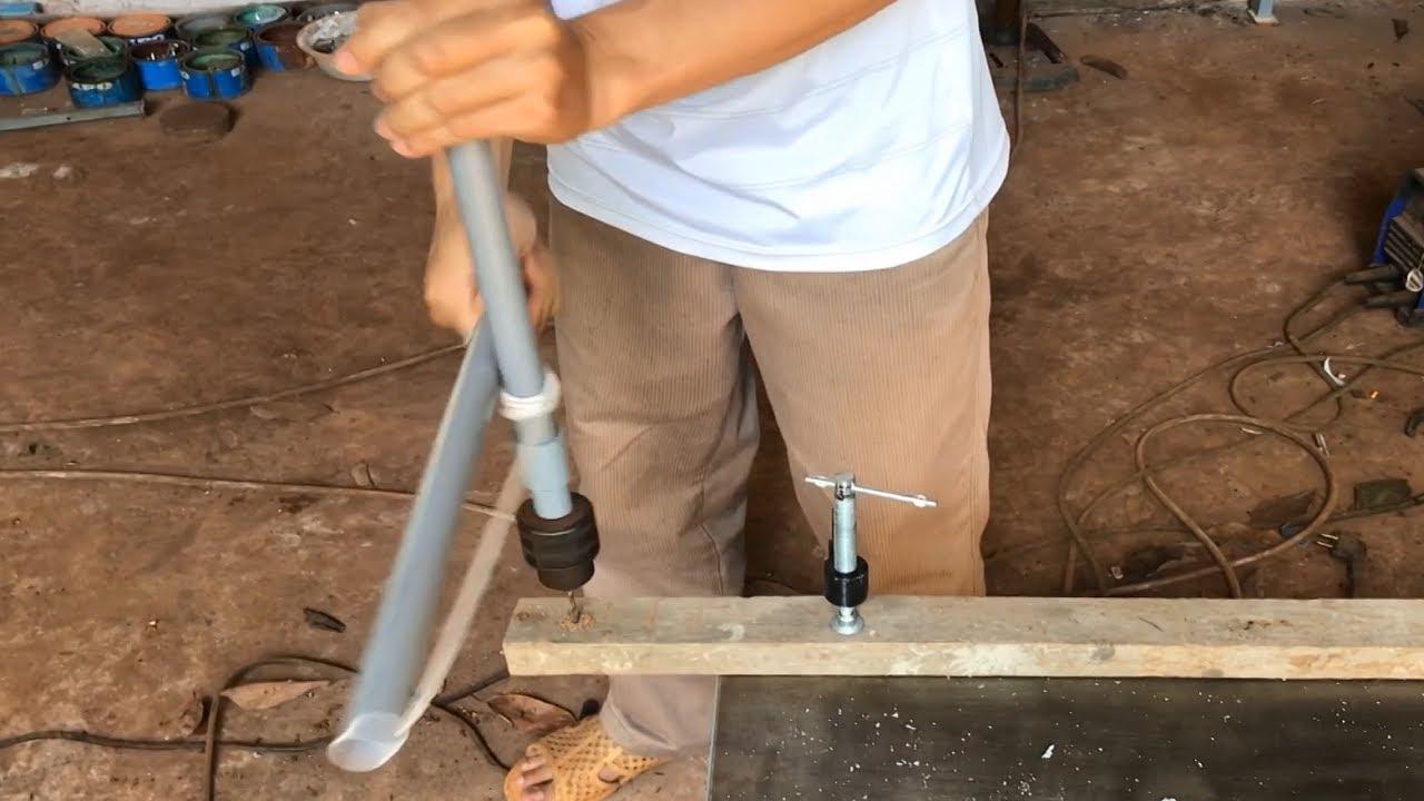 Chế máy khoan cầm tay không cần điện|How to Make hand-held drill not electric