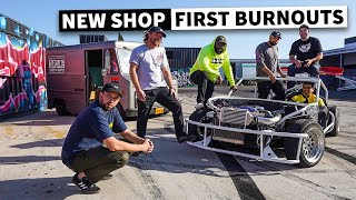 Breaking in Our New Shop... With a Chaotic Burnout Party! // HHH Ep.001