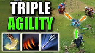 Video Triple Agility Steal with Essence Shift and Upgraded Marksmanship | Dota 2 Ability Draft download MP3, 3GP, MP4, WEBM, AVI, FLV November 2018