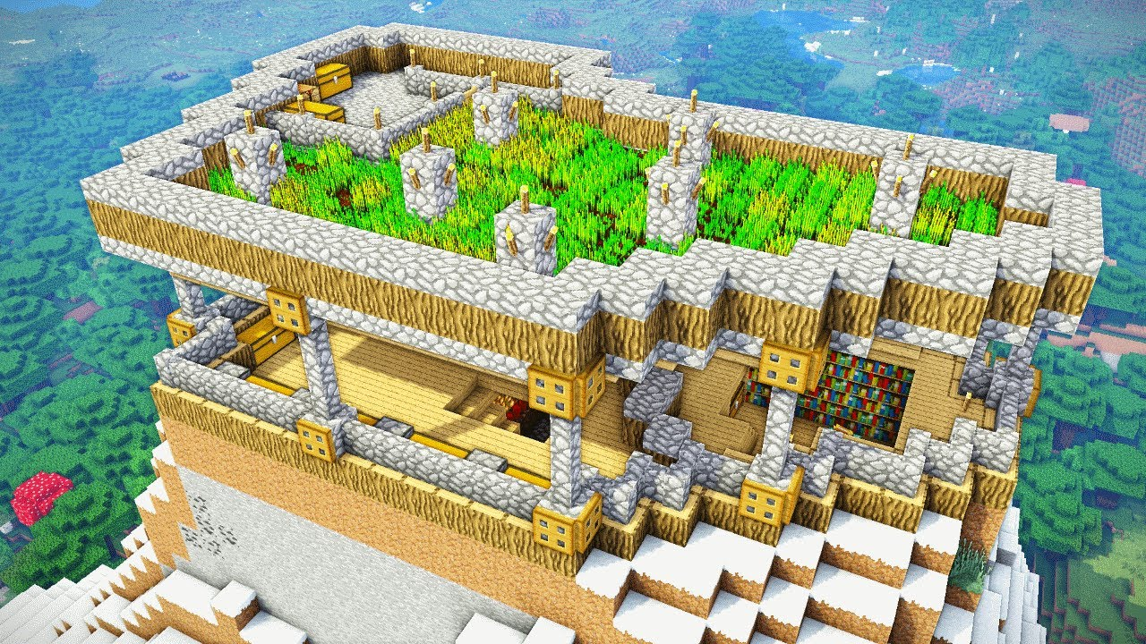 Minecraft Tutorial  Ultimate Survival Mountain House  How To Build