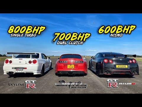 WHEN LEGENDS RACE PT2.. R34 GTR vs DCT SUPRA vs R35 GTR NISMO