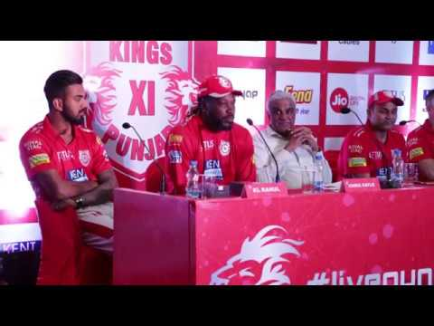 Gayle, Sehwag and KL Rahul in Kings XI Punjab IPL PRESS CONFERENCE 6th April 2018