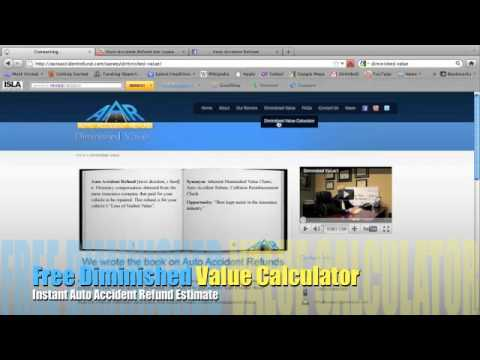 Free Online Diminished Value Calculator >> Diminished Value Calculator Website By Auto Accident Refund