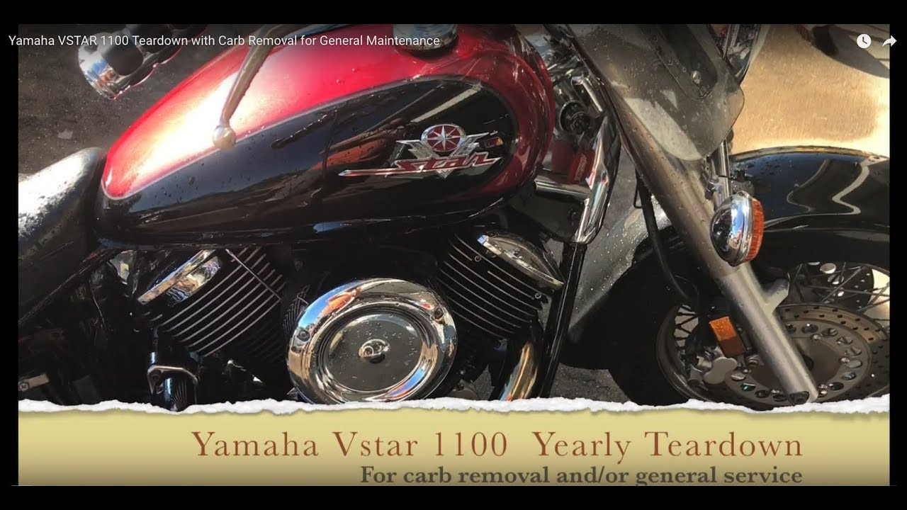 yamaha vstar 1100 disassembly with carb removal for general maintenance
