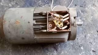 видео схема подключения многофазного асинхронного двигателя к источнику   постоянного тока