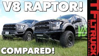 V8 Raptor vs Stock Twin-Turbo V6 Ford Raptor: Compared