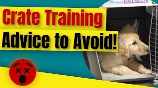 Crate Training A Puppy - Crate Training Advice to Avoid 😲